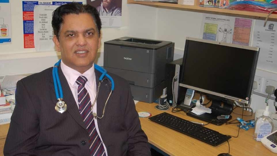 Oldham family doctor Zahid Chauhan OBE