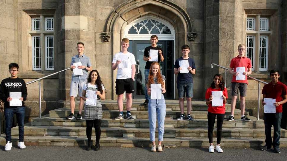 Blue Coat A level students celebrate their results