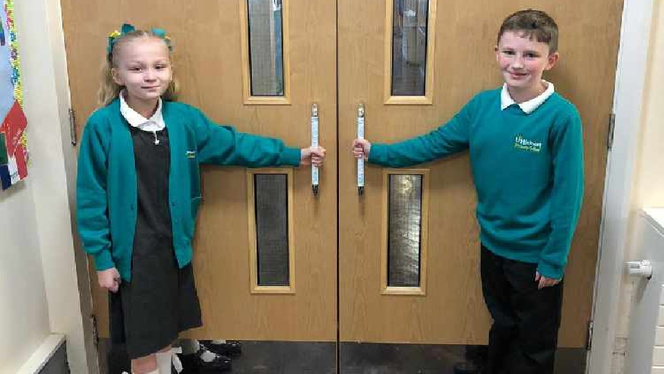 The local firm placed the pads on all touch points throughout the school including entrances and internal doors