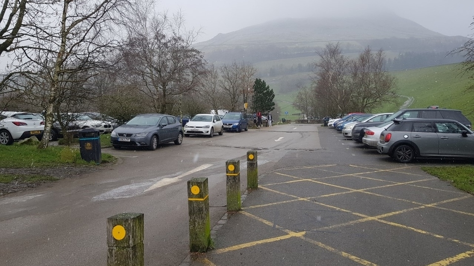 This was the busy scene at Dovestone Reservoir car park yesterday afternoon (Thursday)