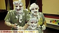 SCOUT leaders Kathy Temple-Heald, Jay Wilson and Simon Caine (left) got pie-eyed for the charity