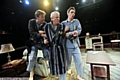Antony Eden (Tristam, left), John McAndrew (Roland) and Ben Porter (Mark, right) in a spot of pyjama bother in Taking Steps