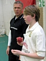 Alec Stewart with pupilWilliam Wilson.