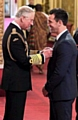 Paul Sculthorpe receives his MBE from the Prince of Wales