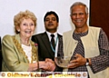 Nobel laureate Professor Muhammad Yunus (right) with the Mayor of Oldham, Councillor Olwen Chadderton
