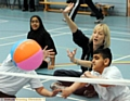 A disability roadshow event at Hathershaw College, which was run by the Integrated Youth Service for Oldham Council