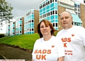 Julie and Gary Livesey at their son�s school