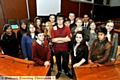 Oldham Youth Council members in Council Chamber.