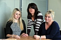 TACKLING abuse head on:(l-r) Kelly Coleman, Justine Hughes and Eileen Mills