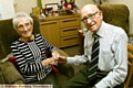 Sally Littlewood celebrates her 100th birthday with husband Joe (99).