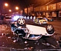 FLIPPED . . . the BMW mini.Picture by Chronicle reader Robert Hough