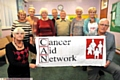 APPEAL... The Cancer Aid Network Committee (L-R) Vera Dolan, Maureen Gartland, Pat Rigby, Margaret Heywood, Peter Hibbert, Peter Kirwan, Audrey Heywood, Sylvia Brown and Alan Heywood.