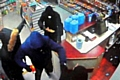 CCTV footage of the armed robbery