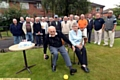 LANDMARK: George Glass and wife Gladys celebrate George�s 100th birthday with members of Brookdale bowls club.