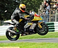 ASHLEY Beech pulls a wheelie as he goes through the gears at Cadwell Park.