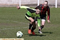 TIME FOR ACTION: Rifle Range�s Nathan Barker (front) and Dog and Partridge�s Christan Shermerdine battle for the ball during an Oldham Sunday League clash last season.