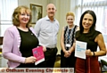 WORKING together for a Dementia Friendly Oldham: (l-r) Sue Neilson, Chronicle managing editor David Whaley, Julie Eastham of Oldham CCG and MP Debbie Abrahams