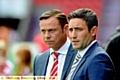 Lee Johnson and Paul Dickov: one ended the game happier than the other...