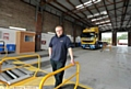 HOWARTH Bros director Lewis O�Neill in the inspection garage that has been set up with a �400,000 investment.