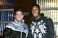 Athletic boss Lee Johnson welcomes Dominic Poleon late last night.