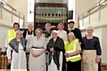 Some of the proud volunteers, the chapel guides.