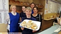 BAKERS born and bread... (back, from left) Jackie Scholes, Emily Knight, Kamiel Wieckiewicz and Fran Oldfield with Dawn Alexander-Mills (front)