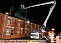 Firemen from Greater Manchester Fire Brigade attend a house fire on, Greenhill road, Chadderton.