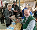 Terry Waite at special charity Emmaus Memory Lane auction. PIC with Myra Shiel.