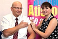 Over 1,000 NHS professionals from Pennine Care NHS Foundation Trust have rolled up their sleeves to protect people from flu � including several of the Trust�s most senior leaders. Chairman John Schofield with immuniser Laura Birch