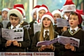 ANGELIC: l-r Ben Slater, Polly Balmforth-Beever and Kavanagh Warner sing for St Joseph's RC primary school at the Kershaw�s concert.