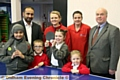 NEW lease of life . . . (back, from left) Rais Bhatti (head of Yew Tree Community School), Dawn Fox (Fullcircle director), Becci West (Fullcircle director) and Councillor Graham Shuttleworth with pupils from Yew Tree