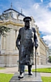A STATUE of Winston Churchill at the Elysee Palace in Paris - one of many dotted around Europe