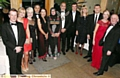 Having a ball (l-r): school business manager Michael Unsworth, Caroline Whitmore, head teacher Anne Redmond, John and Debbie Abrahams, Mayor and Mayoress of Oldham, Councillor Fida Hussain and Tanvir Hussain, John Stapleton, Lynn Faulds-Wood, Barrie McDermott, Terri Unsworth and Chris Redmond.