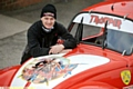 PAUL Wighton with the Volkswagen Beetle decorated in the Iron Maiden Trooper logo after the band�s frontman sponsored the team.