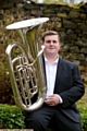Tuba player Tommy Tynan - at 18 the youngest member of Grimethorpe Band