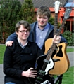 Nathan Dawson, left, is organising �Rock v Cancer� on May 2 with the help of pal Kieron McMahon.