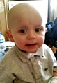 ALWAYS smiling: Leyton has been brave throughout his treatment