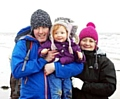 HAPPIER times: Cath with husband Matt and three-year-old daughter Isla