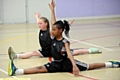 Higher Failsworth School dancers Bethany Lee (left) and Liane Almeida in action