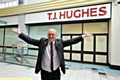 WELCOME back . . . Mike Flanagan outside TJ Hughes in the Spindles Town Square Shopping Centre