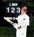 AS EASY AS 1-2-3: Daniel Stock looks to have a bright cricketing future.