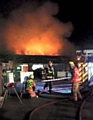 FIREFIGHTERS worked on the blaze in the early hours