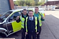Pride in Oldham nominees Highways Operations, left to right, Carl McManus, Stephen Aikman (manager), Michael Bowes.