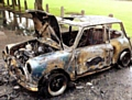 Jak�s burned-out Mini
