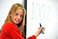 PERFECTION: Ruby Holland celebrates her 100 per cent attendance.
