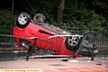 THE overturned Fiat Punto on St Mary�s Way, in Oldham