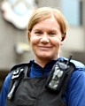 GOING above and beyond . . . PCSO Joanna Haigh
