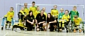 Ann, Jason and Hannah with youngsters from Chadderton Park FC�s cerebral palsy football club