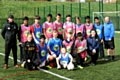 Footballers and coaches at Hathershaw College