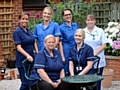 MAKING a difference . . . Butler Green IV Therapy Team (back, from the left) manager Vicki Elcock, Samantha McCourt, Vickey Taylor, Carol Carr. Front: Alison Gaylard and Gina Jones